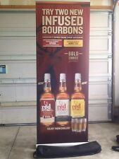 Jim Beam Infused Bourbons Retractable Roll Up Banner Stand, Display 33 x 79,