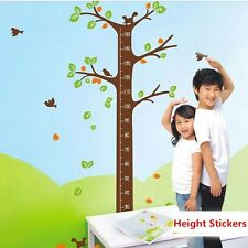 Tree Height Chart Measure Wall Sticker Art DIY Kindergarten Room Decal Vinyl