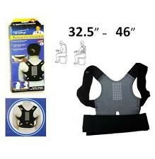 "POSTURE CORRECTOR BELT BACK SUPPORT BRACE INJURY FITS SIZE 32.5"" / 46"" BLACK"