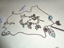 LUCKY BRAND Semi Precious Accent Turquoise Charm Necklace & Bracelet Set NWT