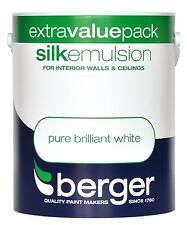 Berger Silk Emulsion Pure Brilliant White - Walls & Ceillings Paint 3L