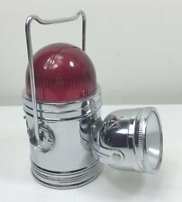 VINTAGE PIFCO FRONT BICYCLE LIGHT WITH HANDLE & RED TOP LIGHT