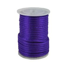 """ANCHOR ROPE DOCK LINE 3/8"""" X 50' BRAIDED 100% NYLON PURPLE MADE IN USA"""