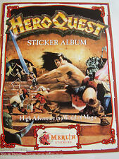RARE HEROQUEST HERO QUEST 1991  STICKER BOOK ALBUM MERLIN RARE UNUSED