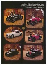 MG Cavalcade 1925-1958 MODERN postcard issued by Vintage Ad Gallery