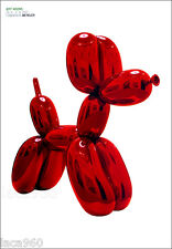Jeff KOONS Red Balloon Dog Sculpture Beyeler Poster Print 50-1/4 x 35-1/4