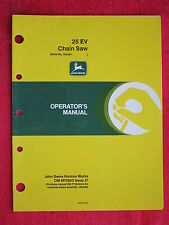 1988 JOHN DEERE 25EV CHAIN SAW CHAINSAW OPERATOR'S MANUAL