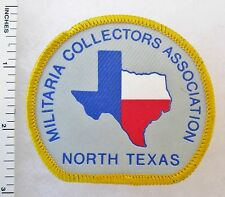 NORTH TEXAS MILITARIA COLLECTORS ASSOCIATION - Vintage Embroidered CLUB PATCH