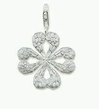 NEW Genuine Thomas Sabo Sterling Silver Angel Wing Clover Leaf Pendant T0322