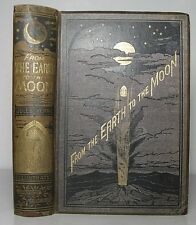 1874 JULES VERNE From the Earth to the Moon UK 3rd edn Victorian Science Fiction