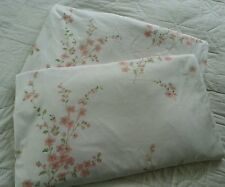 Sanderson Laura Ashley? white pink floral pair curtains 96w x 55d in each C5