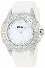 Versus by Versace Women's 3C63700000 Tokyo White Dial Rubber Crystal Watch