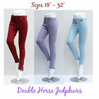 LADIES & CHILDREN JODHPURS Kids Sizes Pink Purple Horse 6 8 10 12 2 Tone Jodphur