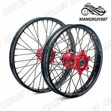 "MX Front Rear Wheel Rim Hub 21"" 19"" for CR 125 250 R CRF 250 450 R X 04 05 06 07"