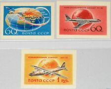 RUSSIA SOWJETUNION 1958 2106-08 B 2086-87 Civil Aviation Flugzeuge Airplanes MNH