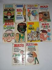 Vintage Lot Of 10 MAD Paperback Books 1964-1975 SMOKE FREE HOME