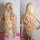 COS WIG long blonde Cosplay party curly Wig long:80CM