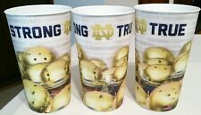 Notre Dame Football Stadium Cup 2014 3D hologram Cups (Lot of 3) Strong & True