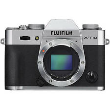 Fuji Fujifilm X-T10 Digital Camera Body in Silver  (UK Stock) BNIB