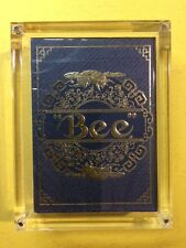 Blue Royal BEE Metalluxe Playing Cards by USPCC (RARE China Exclusive) w/case
