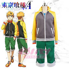 Hot Japan Anime Tokyo Ghoul Nagachika Hide Cosplay Costume Everyday Coat+Pants M