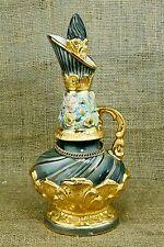 Jim Beam 1961 Whiskey Regal C. Miller Green Gold Flowers Decanter Urn Bottle  2