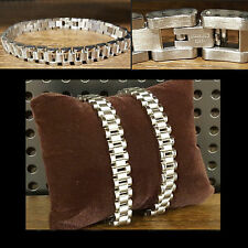 Men's Fashion Jewelry Surgical Steel Silver Rolex Chain Bracelet Bangle Wristlet