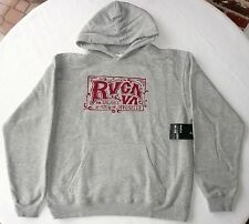 RVCA BALANCE OF OPPOSITES HOODIE Women's Size Large L Grey Old School II  NEW
