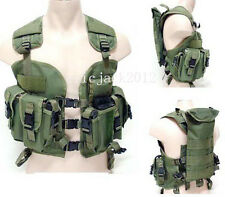 Green US navy seal modular load swat assault tactical vest-D199