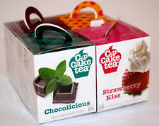 New Cup Cake Teabags 2 Pack of 4 Boxes Gift Pack 4 wonderful Flavours