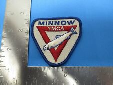 YMCA Minnow Patch Embroidered White Red Blue Kids Swimming  S3211