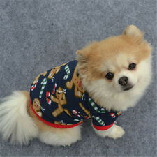 A DOG CHRISTMAS CLOTHES COSTUMES PUPPY CAT KNIT SWEATER COAT HOODIE APPAREL M