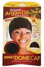 Magic - ** Organic Argan Oil** Treated Spandex Dome Cap With Wide Elastic #3016B