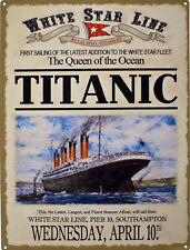 TITANIC Advert, Southampton Launch, Steam Ship Boat Liner, Large Metal/Tin Sign