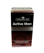 Natures Aid Active Man 60 Tablets Mens Sexual Wellness Supplement Herbal Natural