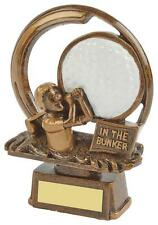 """In The Bunker Comedy Golf Trophy,Award,150mm (6"""") FREE Engraving (RS655)twt"""