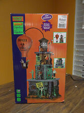 VIDEO Lemax Spooky Town Zombie Fortress Animated Hot Air Balloon Tower Halloween