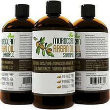 Moroccan Argan Oil Shampoo for Men and Women - Sulfate Free with Organic Argan -