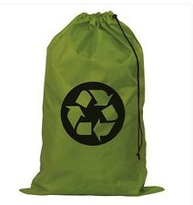 Laundry Bag Recycle Sign on Green Nylon Eco-friendly laundry Bag