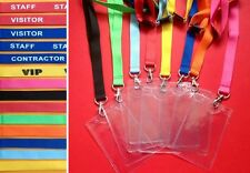8 x Lanyards Festival ID Glastonbury Reading Leeds ticket holder School security