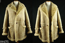 Vintage Mac Mor Shearling Sheepskin Leather Marlboro Ranch Coat Fits as 41-42