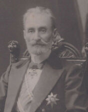 1900s CABINET CARD PHOTO UNKNOWN EUROPEAN ROYALTY KING DUKE BARON PRINCE GENERAL