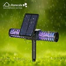 Homecube Outdoor Solar LED Mosquito Killer UV Lamp Garden Insect Zapper Sensor