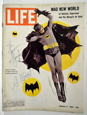 LIFE MAGAZINE 3/11/66  featuring / HAND SIGNED by ADAM WEST / BATMAN TV Show