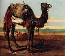Decamps Alexandre Gabriel A Bedouin And A Camel Resting In A Desert Landscape A4