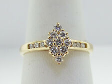 Estate Genuine Diamonds Solid 14K Yellow Gold Ring FREE SIZING