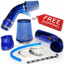 "2.5-3.0"" UNIVERSAL COLD AIR Intake INDUCTION HOSE KIT System Narrow Filter BLUE"