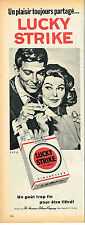 PUBLICITE ADVERTISING 025  1960  LUCKY STRIKE  cigarettes