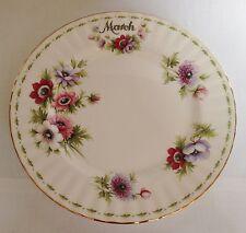 Royal albert mars la fleur du mois salade/dessert plate - 8 1/4 pouces chine