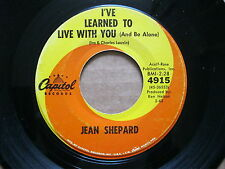 Jean Shepard 45 RPM 1963 I've learned to live with you ( and be alone ) VG +